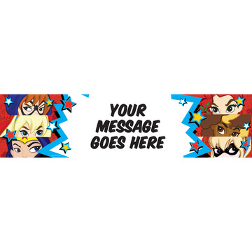 Superhero Girls Personalized Banner (Each)