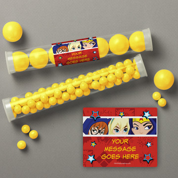 Superhero Girls Personalized Candy Tubes (12 Count)
