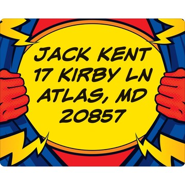 Superhero Party Personalized Address Labels (Sheet of 15)