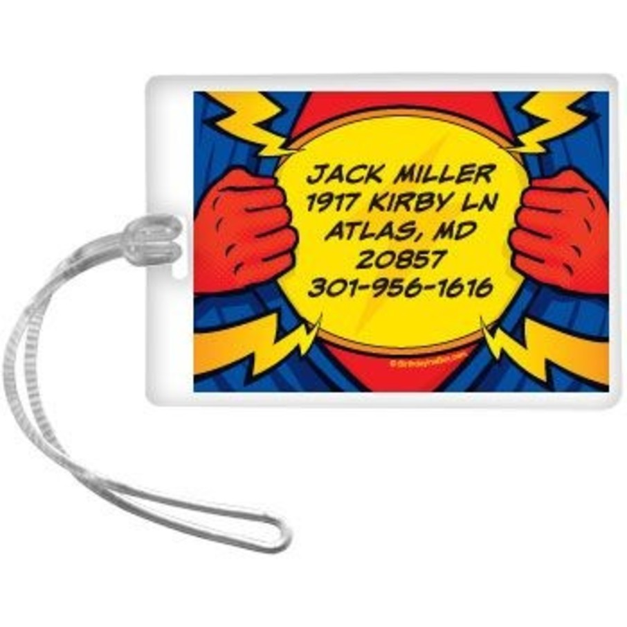 View larger image of Superhero Party Personalized Luggage Tag (each)