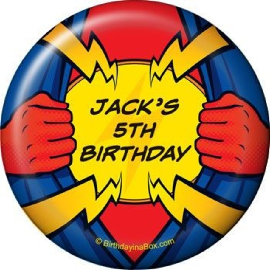 View larger image of Superhero Party Personalized Magnet (each)