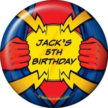 Superhero Party Personalized Magnet (each)