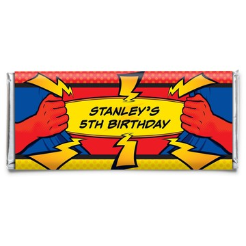 Superhero Personalized Candy Bar Wrapper (each)