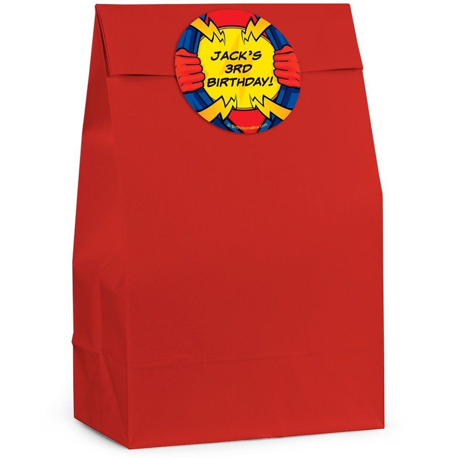 View larger image of Superhero Personalized Favor Bags (Pack of 12)