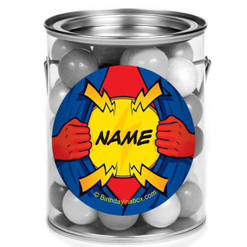 Superhero Personalized Mini Paint Cans (12 Count)