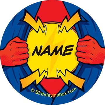 Superhero Personalized Mini Stickers (Sheet of 24)