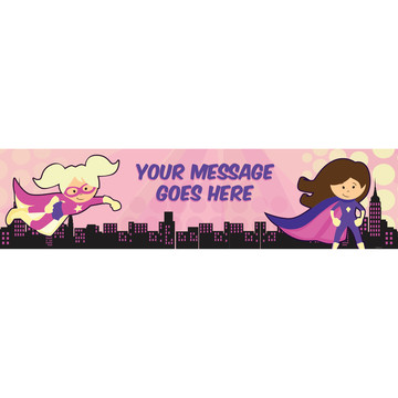 Superhero Pink Personalized Banner (Each)