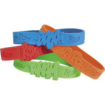 Superhero Rubber Bracelet Favors (24 Pack)