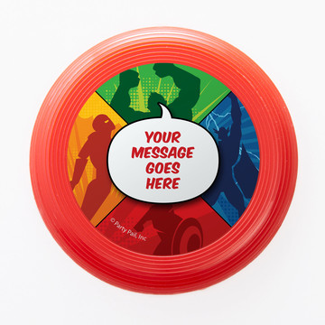 Superheroes Personalized Mini Discs (Set of 12)