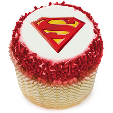 Superman Edible Cupcake Topper (12 Images)