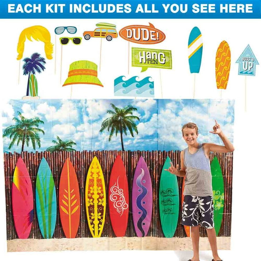 View larger image of Surf Party Photo Booth Kit