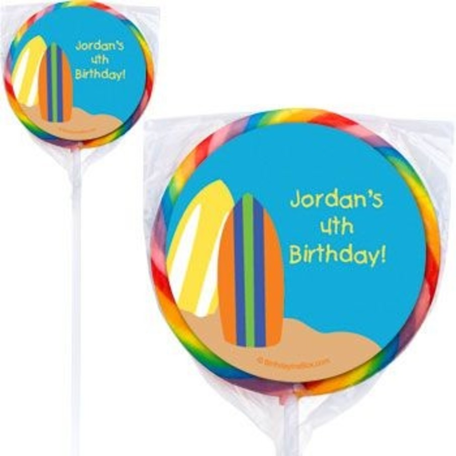 View larger image of Surfer Dude Personalized Lollipops (pack of 12)