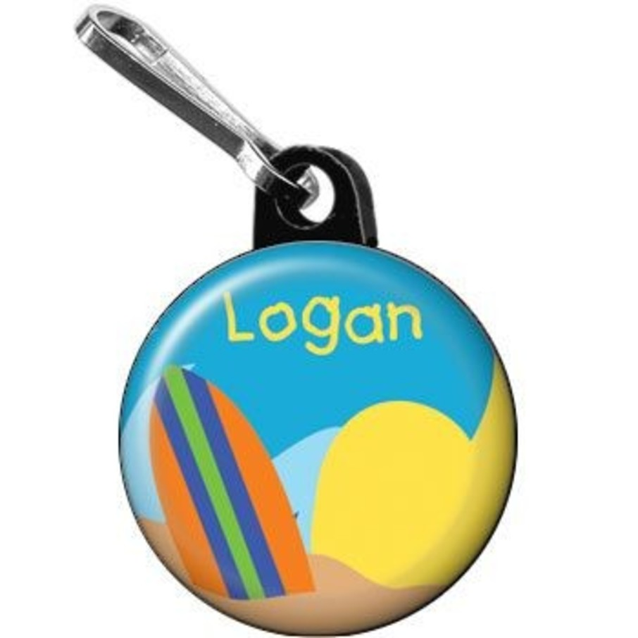 View larger image of Surfer Dude Personalized Mini Zipper Pull (each)