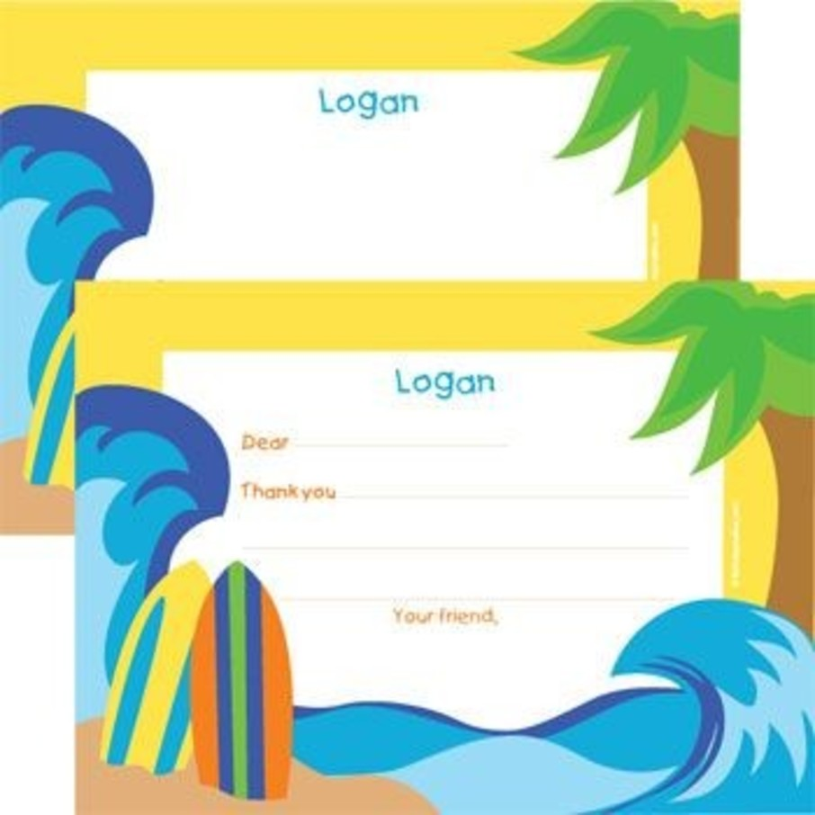 View larger image of Surfer Dude Personalized Thank You Note (each)