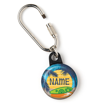 """Surf's Up Personalized 1"""" Carabiner (Each)"""