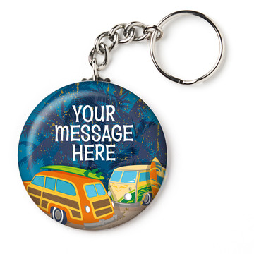 "Surf's Up Personalized 2.25"" Key Chain (Each)"