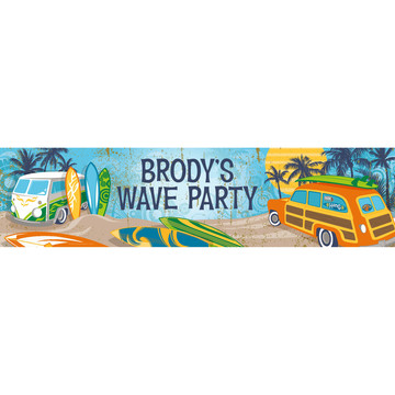 Surf's Up Personalized Banner (Each)