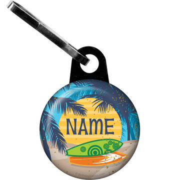 Surf's Up Personalized Zipper Pull (Each)