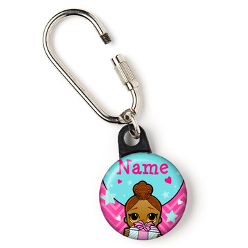"Surprise Dolls Personalized 1"" Carabiner (Each)"