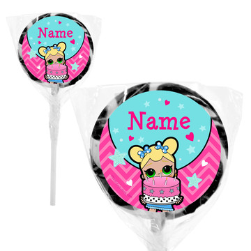 "Surprise Dolls Personalized 2"" Lollipops (20 Pack)"