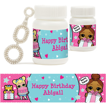 Surprise Dolls Personalized Bubbles (18 Pack)