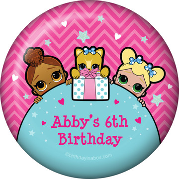 Surprise Dolls Personalized Button (Each)