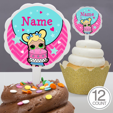 Surprise Dolls Personalized Cupcake Picks (12 Count)