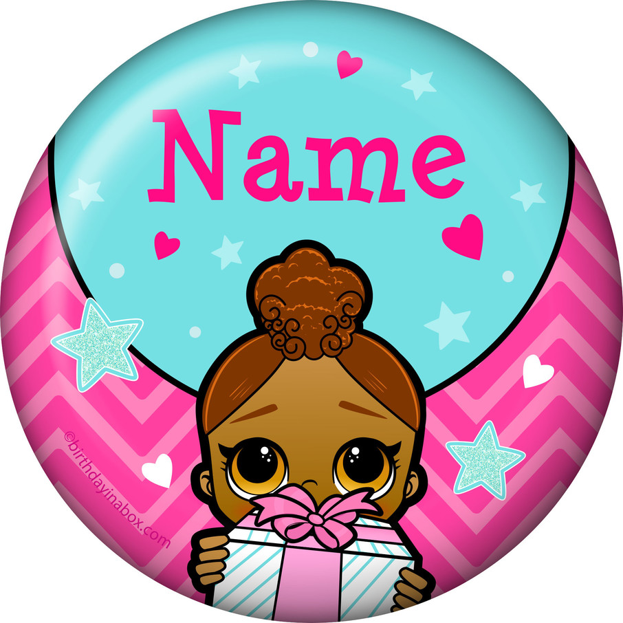 View larger image of Surprise Dolls Personalized Mini Magnet (Each)