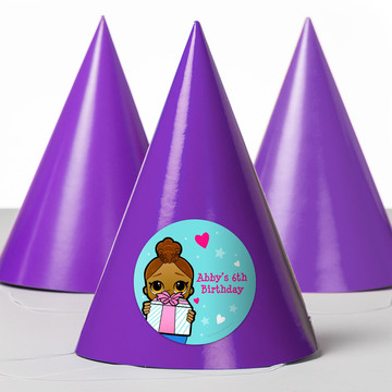 Surprise Dolls Personalized Party Hats (8 Count)