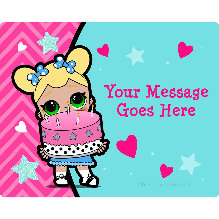 View larger image of Surprise Dolls Personalized Rectangular Stickers (Sheet of 15)