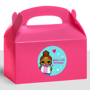 Surprise Dolls Personalized Treat Favor Boxes (12 Count)