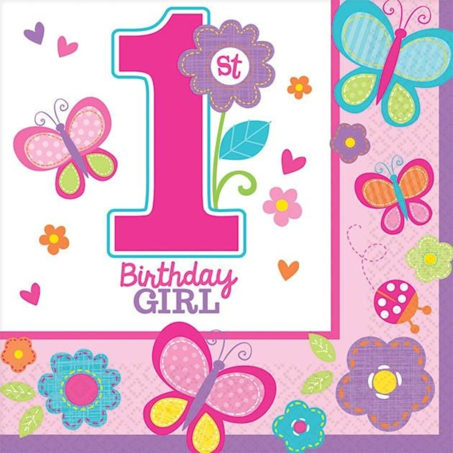 View larger image of Sweet 1st Birthday Girl Beverage Napkins (36 Pack)