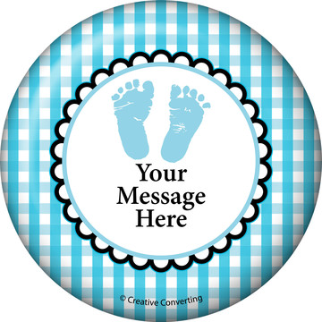 Sweet Baby Feet Blue Personalized Magnet (Each)
