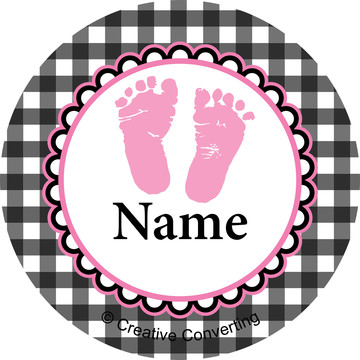 Sweet Baby Feet PinkPersonalized Mini Stickers (Sheet of 24)