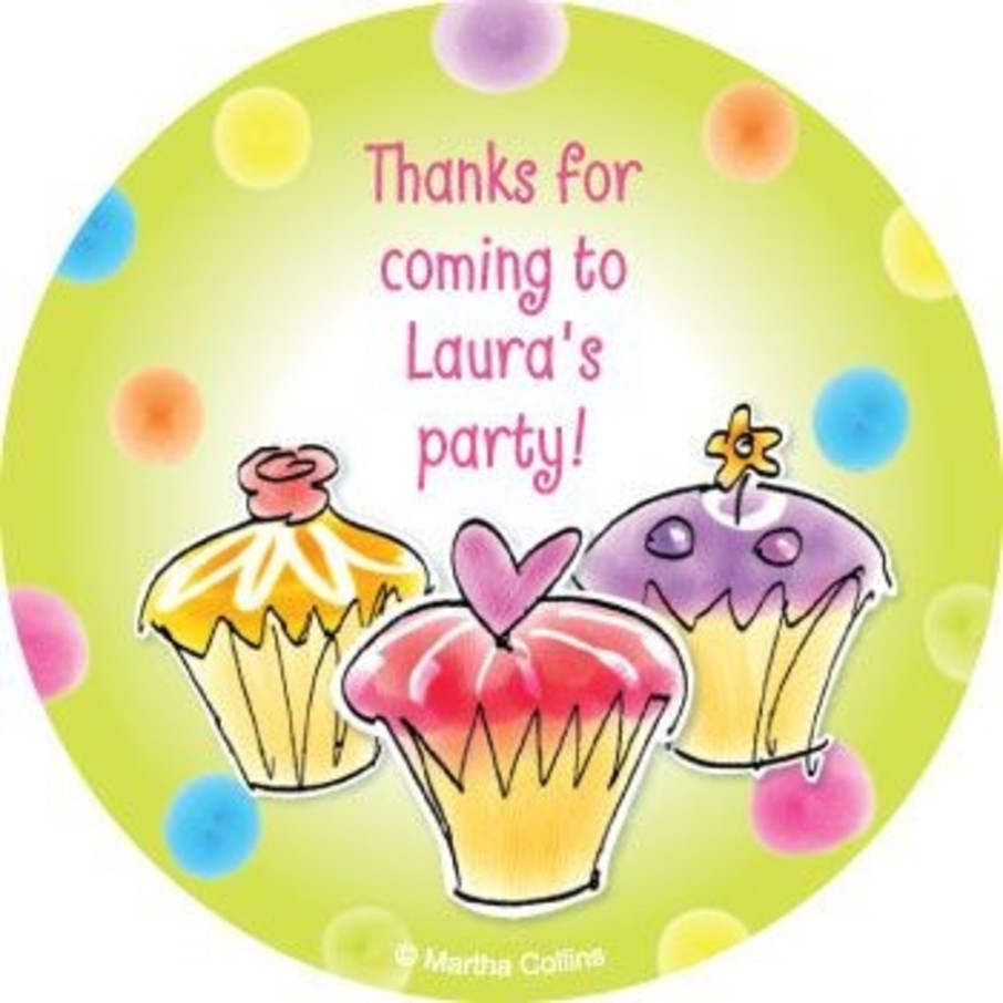 View larger image of Sweet Celebration Personalized Stickers (sheet of 12)
