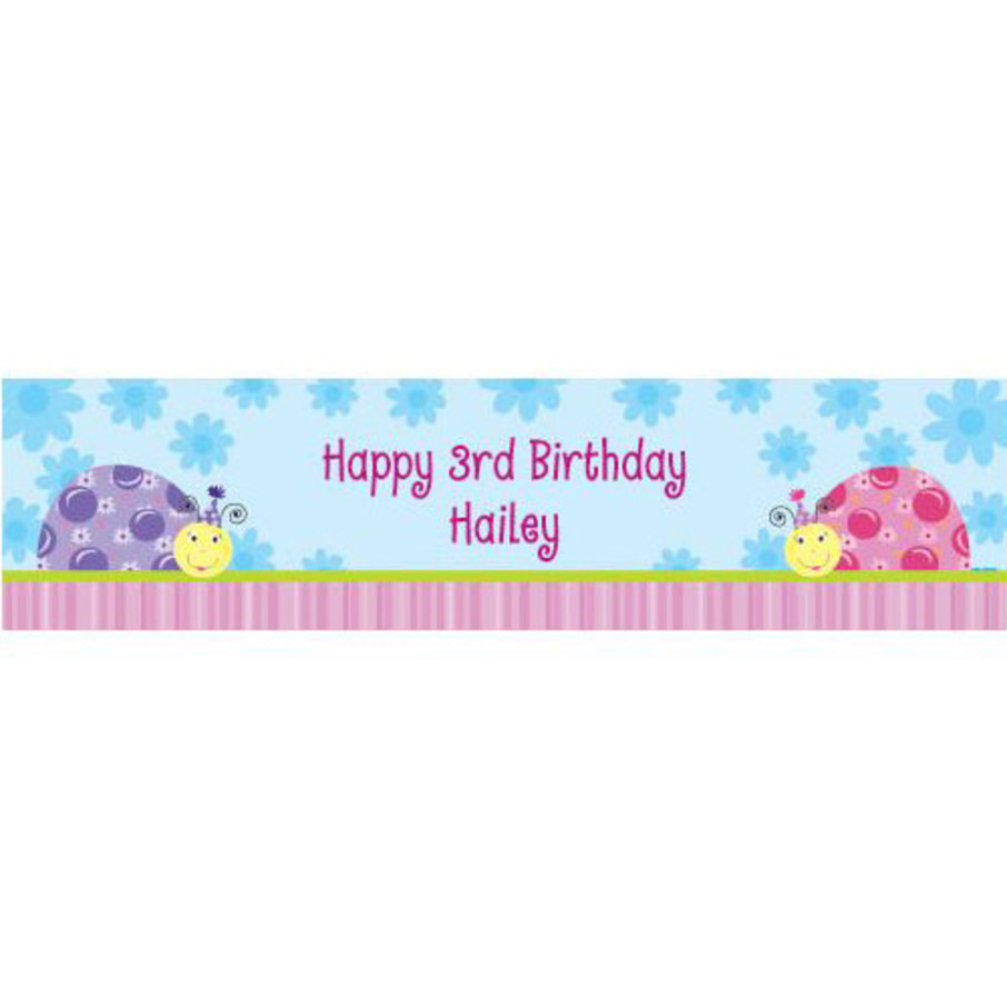 View larger image of Sweet Ladybug Personalized Banner (each)
