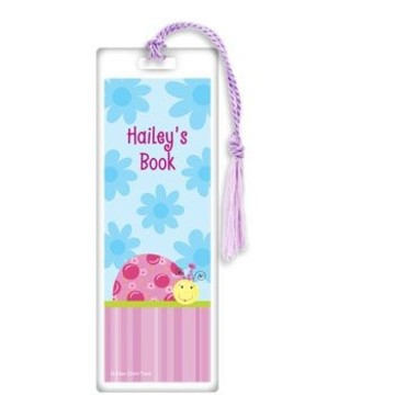 Sweet Ladybug Personalized Bookmark (each)