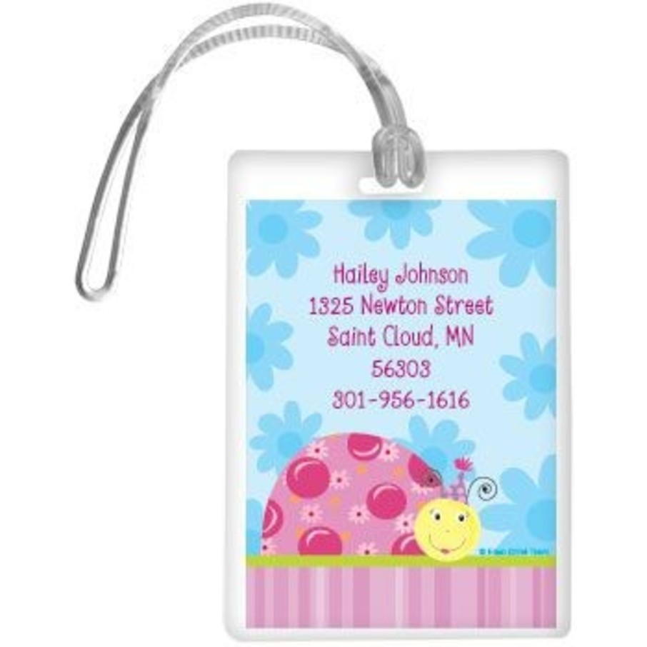 View larger image of Sweet Ladybug Personalized Luggage Tag (each)