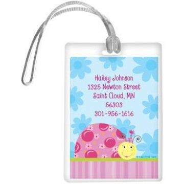 Sweet Ladybug Personalized Luggage Tag (each)