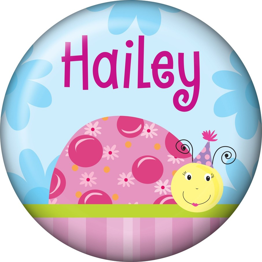 View larger image of Sweet Ladybug Personalized Mini Button (Each)