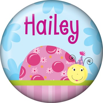 Sweet Ladybug Personalized Mini Button (Each)