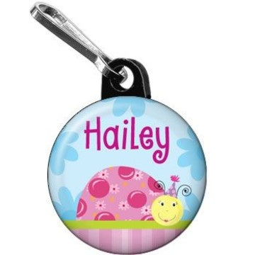 Sweet Ladybug Personalized Mini Zipper Pull (each)