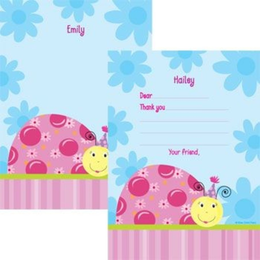 View larger image of Sweet Ladybug Personalized Thank You Note (each)