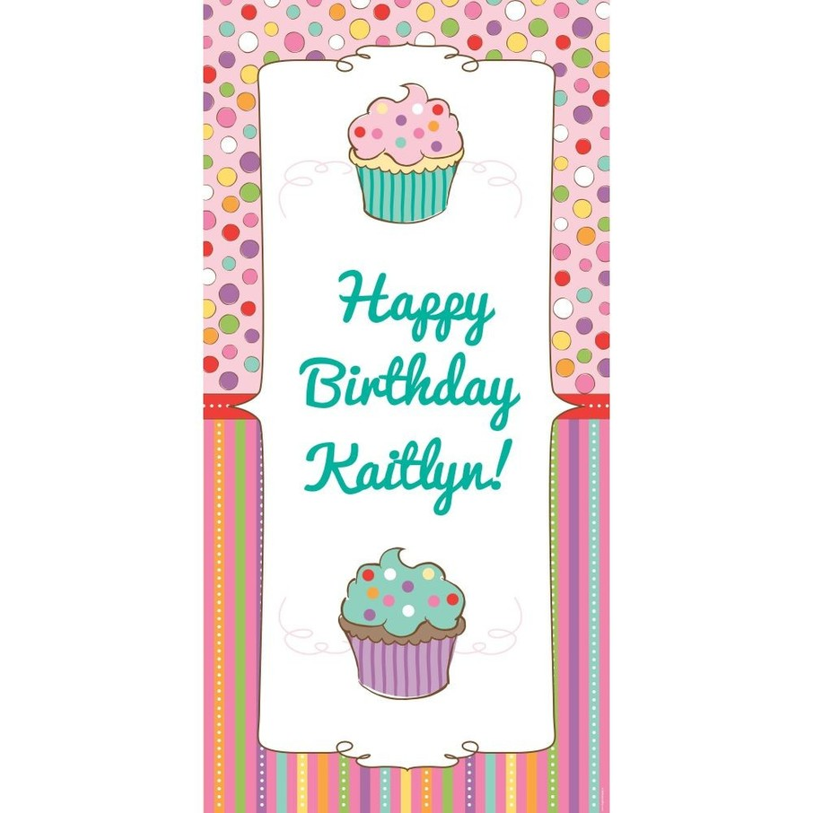 View larger image of Sweet Stuff Personalized Oversized Banner 30x60""