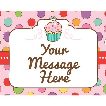 Sweet Stuff Personalized Rectangular Stickers (Sheet of 15)