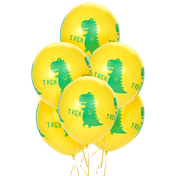 T-Rex Latex Balloons (6)