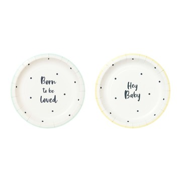 Talking Tables Born To Be Loved Dessert Plate (12)