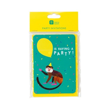 Talking Tables Party Animals Invites with Envelopes, 8ct