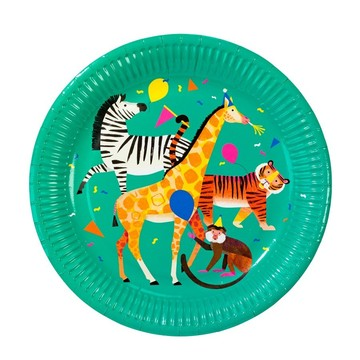 Talking Tables Party Animals Lunch Plates, 8ct