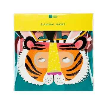 Talking Tables Party Animals Paper Masks, 8ct